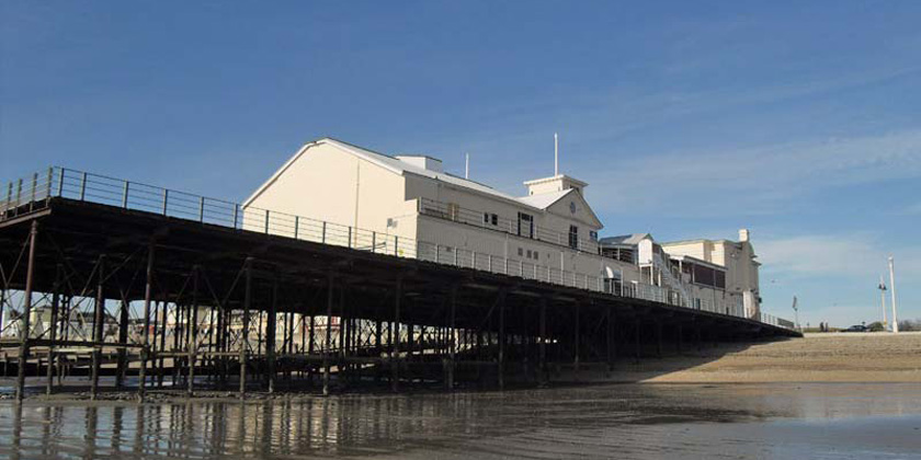 Bognor Regis pier from the sands