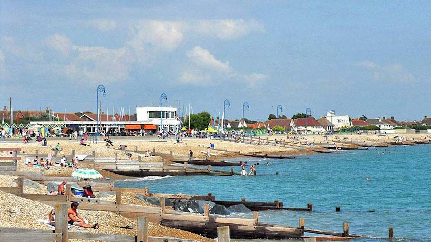 Felpham beach looking east