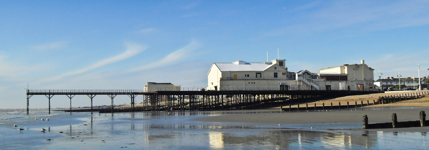 A view of Bognor Regis Pier looking from the East